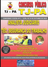 Apostila Impressa Concurso TJ-PA 2019 - AUXILIAR JUDICIÁRIO TÉCNICO DE SEGURANÇA DO TRABALHO