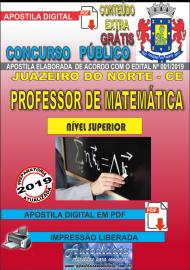 Apostila Digital Concurso JUAZEIRO DO NORTE - CE - 2019 - Professor – Matemática