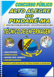 Apostila Impressa Concurso Público Alto Alegre do Pindaré - MA 2020 Técnico de Enfermagem