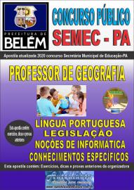 Apostila Impressa Concurso Público SEMEC - PA 2020 Professor de Geografia