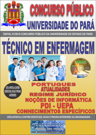 Apostila Impressa Concurso Universidade do Estado do Pará - UEPA 2019 Técnico em Enfermagem