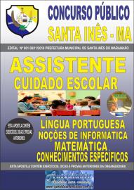 Apostila Impressa Concurso Prefeitura Municipal de Santa Inês - Maranhão 2019 Assistente Cuidado Escolar