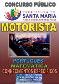 Apostila impressa concurso de SANTA MARIA DO PARÁ-PA 2018 - Motorista
