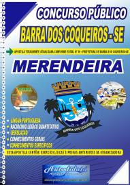 Apostila Impressa Concurso Público Barra dos Coqueiros - SE 2020 Merendeira