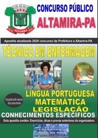 Apostila Impressa Concurso Prefeitura de Altamira - PA 2020 -  Técnico Em Enfermagem