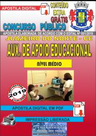 Apostila Digital Concurso  JUAZEIRO DO NORTE - CE  - 2019 - Auxiliar de Apoio Educacional