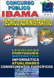 Apostila Impressa Concurso IBAMA  - 2019 - Técnico Administrativo