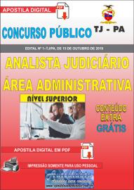 Apostila digital Concurso TJ-PA 2019 - Analista Judiciário Área Administrativa