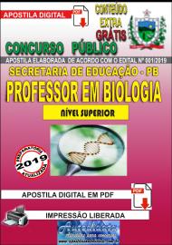 Apostila Digital Concurso SEECT/PB - 2019 - Professor De Biologia