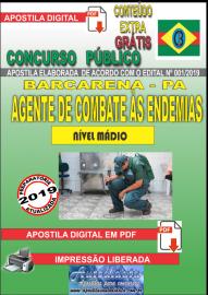 Apostila Digital Concurso PREFEITURA MUNICIPAL DE BARCARENA - PA - 2019 - Agente de Combate às Endemias - ACE