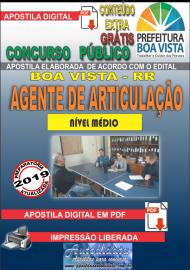 Apostila Digital BOA VISTA/RR 2019 - Agente de articulação