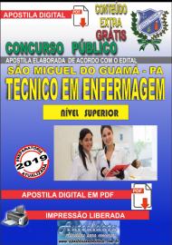 Apostila Digital concurso SÃO MIGUEL DO GUAMÁ/PA 2019 – Técnico De Enfermagem