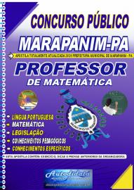Apostila Impressa Concurso Público Prefeitura de Marapanim - PA 2020 Professor de Matemática