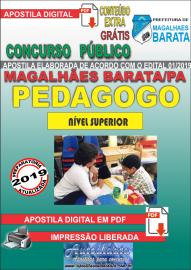 Apostila Digital Concurso de MAGALHÃES BARATA/PA 2019 – Pedagogo