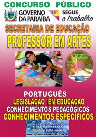 Apostila Impressa Concurso SEECT/PB - 2019 - Professor De Artes