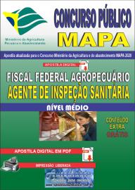 Apostila Digital Concurso Público do MAPA - 2020 Auditor Fiscal Federal Agropecuário - Agente de Inspeção Sanitária