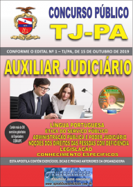 Apostila Impressa concurso de TJPA 2019 – Auxiliar Judiciário