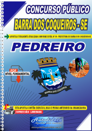 Apostila Digital Concurso Público Barra dos Coqueiro - SE 2020 Pedreiro