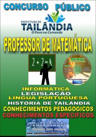 Apostila Impressa TAILÂNDIA/PA 2019 - Professor De Matemática