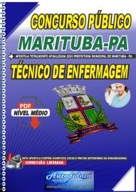 Apostila Digital Concurso Público Prefeitura de  Marituba - PA 2020  Técnico de Enfermagem