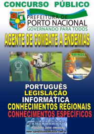 Apostila Impressa Concurso da Prefeitura de Porto Nacional - TO – 2019 - Agente De Combate A Endemias