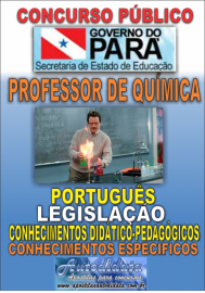 Apostila impressa Concurso SEDUC-PA 2018 - Professor de Química