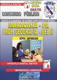 Apostila Digital MARACANÃ/PA 2019 - Professor Anos Finais – Peb II –Geografia