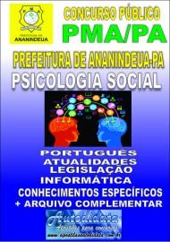 Apostila Impressa ANANINDEUA/PA 2019 - Psicologia Social