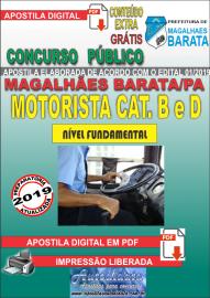 Apostila Digital Concurso de MAGALHÃES BARATA/PA 2019 – Motorista B e D