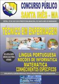 Apostila Impressa Concurso Prefeitura Municipal de Santa Inês - Maranhão 2019 Técnico em Enfermagem