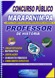 Apostila Impressa Concurso Público Prefeitura de Marapanim - PA 2020 Professor de História