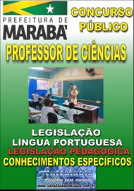 Apostila Impressa Concurso MARABÁ - PA 2018 - Professor Licenciado Em Ciências