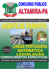 Apostila Impressa Concurso Prefeitura de Altamira - PA 2020 - Agente De Trânsito