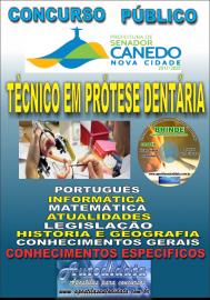 Apostila Impressa SENADOR CANEDO/GO 2020 - Assistente De Saúde/Técnico Em Prótese Dentária