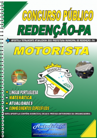 Apostila Impressa Concurso Público Prefeitura de Redenção - PA - 2020 Motorista