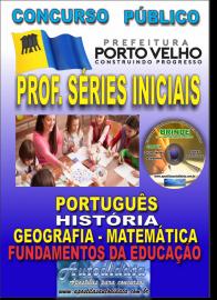Apostila Impressa Concurso de PORTO VELHO/RO 2019 – Prof Nível II - Séries Iniciais