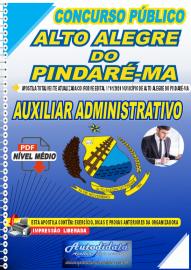 Apostila Digital Concurso Público Alto Alegre do Pindaré - MA 2020 Auxiliar Administrativo