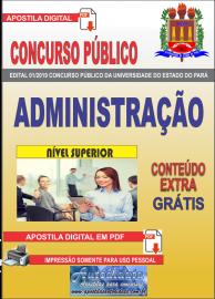 Apostila Digital Concurso Universidade do Estado do Pará - UEPA 2019 Administração