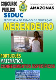 Apostila Impressa Concurso SEDUC-AM 2018 - Merendeiro