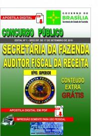 Apostila Digital Concurso SEEC/DF 2019 - Secretária da Fazenda Auditor Fiscal da Receita