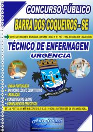 Apostila Impressa Concurso Público Prefeitura de Barra dos Coqueiros - SE 2020 Técnico de Enfermagem em Urgência