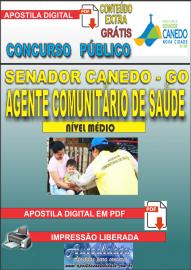 Apostila Digital SENADOR CANEDO/GO 2020 - Agente Comunitário De Saúde