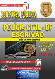 Apostila digital concurso da PC-DF Distrito Federal 2020 - Escrivão de Polícia
