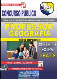 Apostila Digital Concurso Prefeitura Municipal de Santa Inês - Maranhão 2019 Professor Geografia
