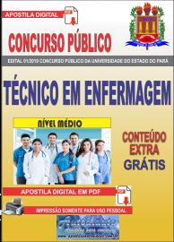 Apostila Digital Concurso Universidade do Estado do Pará - UEPA 2019 Técnico em Enfermagem