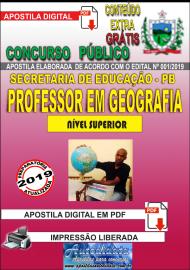 Apostila Digital Concurso SEECT/PB - 2019 - Professor De Geografia