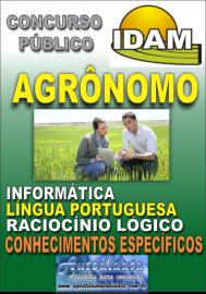 Apostila Impressa Concurso IDAM - AM 2018 - Agrônomo