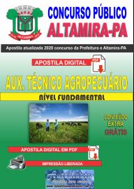 Apostila Digital Concurso Prefeitura de Altamira - PA 2020 - Auxiliar Técnico Agropecuário