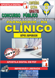 Apostila Digital Concurso PARNAMIRIM – RN/2019 - Clínico