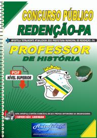 Apostila Digital Concurso Público Prefeitura de Redenção - PA 2020 - Professor de História
